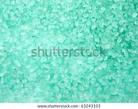 Aromatic green bath salt  background - stock photo