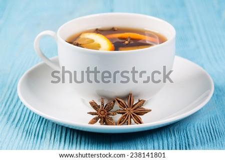 Aromatic tea with cloves - stock photo