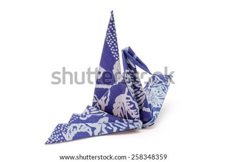 Arranged origami paper crane - stock photo