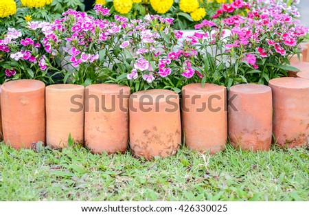 arrangement  Flower in the garden - stock photo