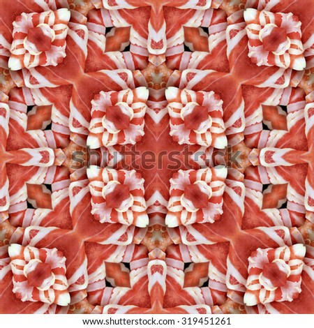 Arrangement of Decorative Bacon Seamless Texture - stock photo