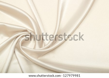 Arrangement of draped satin - stock photo