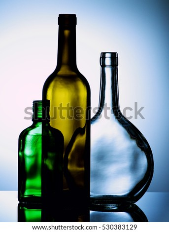 Zhekoss 39 s portfolio on shutterstock - Empty colored wine bottles ...