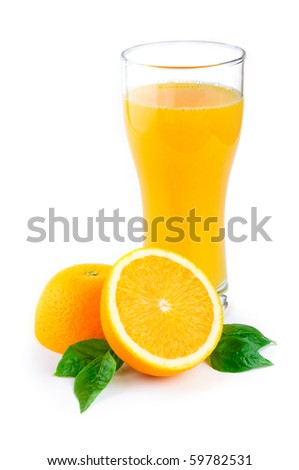 Arrangement of orange on a white background