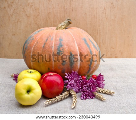 Arrangement of thanksgiving. - stock photo