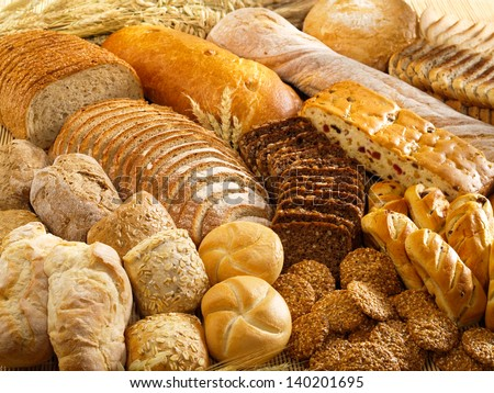 Arrangement with bakery products - stock photo