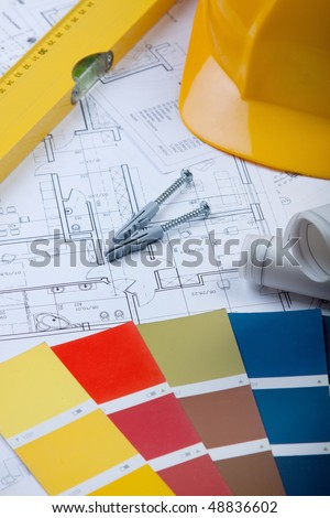 Arranging Home, construction concept - stock photo