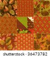 ARRANGING SQUARES FOR FALL PATTERN! - stock photo