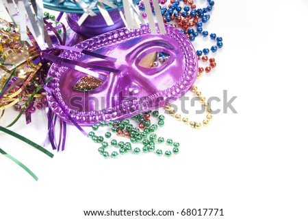 Array of festive party objects - stock photo