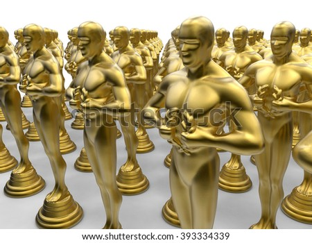 Array of golden statues