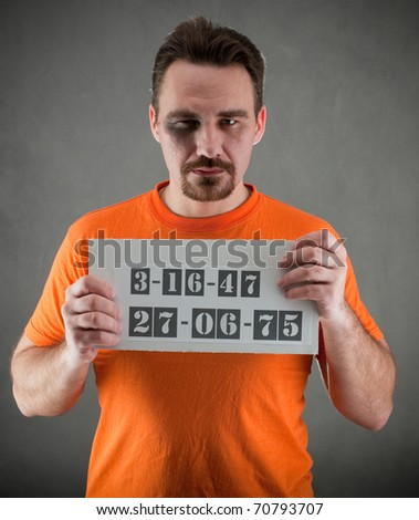 arrested man - stock photo