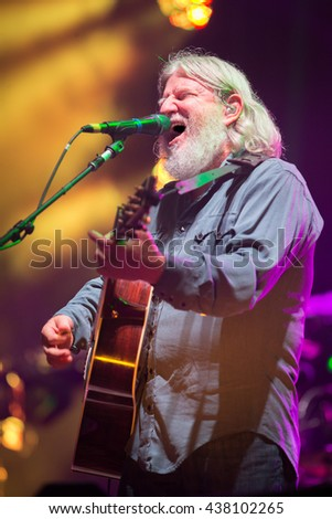 Arrington, VA/USA - 9/4/2014 : Bill Nershi performs with The String Cheese Incident at LOCKN' Festival in Arrington, VA.