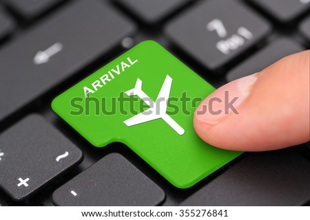 Arrival - stock photo