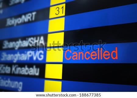 Arrival Departure Board - stock photo