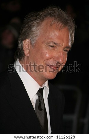 Arrivals at the European Premiere of 'Sweeney Todd' at the Odeon Leicester Square on January 10, 2008 in London, England. Alan Rickman