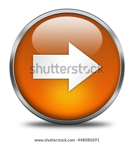 arrow button isolated on white background. 3d render