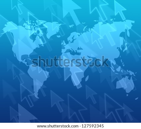 Arrow button on a touch screen interface - stock photo