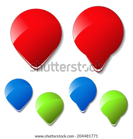 arrow buttons, pointer of more, next, here - stock photo
