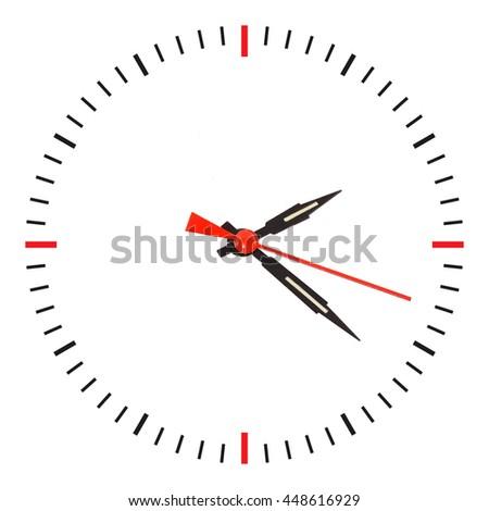 arrow clock isolated on white background - stock photo