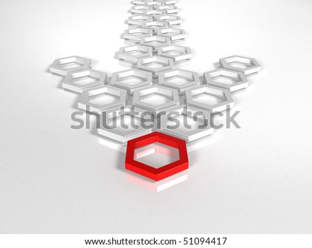 arrow 3d rendering - stock photo