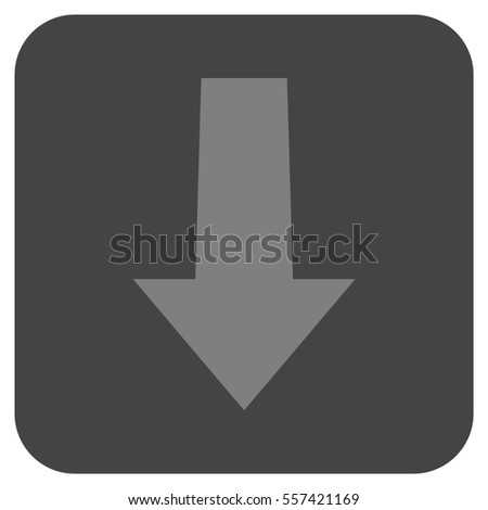 Arrow Down glyph icon. Image style is a flat icon symbol inside a rounded square button, light gray and dark gray colors.