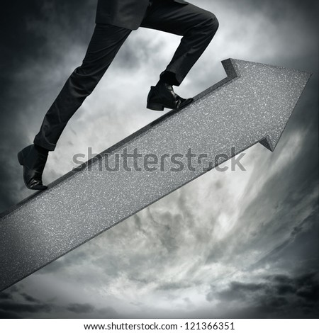 arrow going up - stock photo