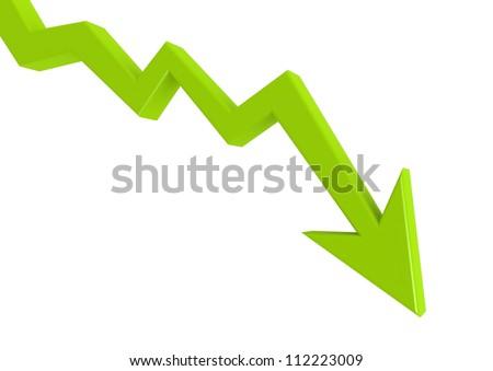 Arrow Graph - Down - stock photo