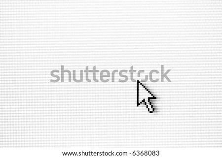Arrow-head on monitor - stock photo