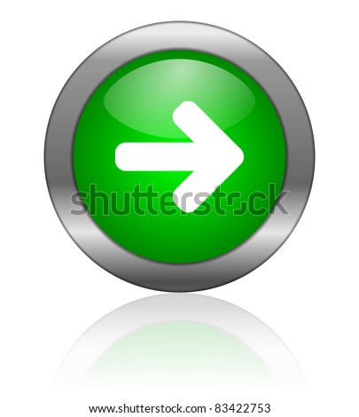 arrow icon - stock photo