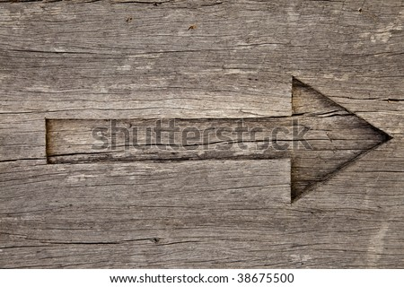 arrow in old wood
