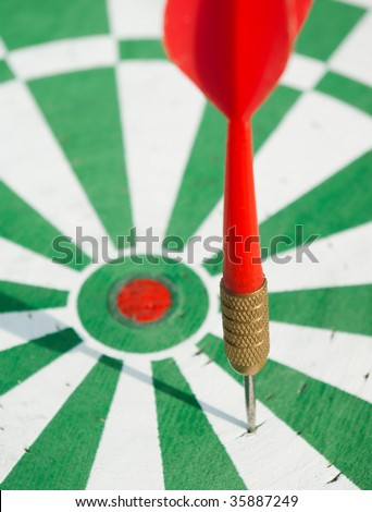 Arrow missed the target, inaccurate shot