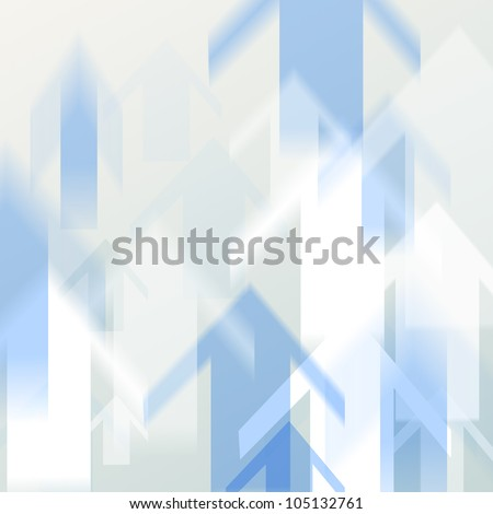 Arrow moving up in motion blur blackground style - stock photo