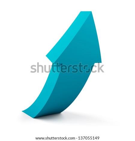 Arrow on a white background. - stock photo