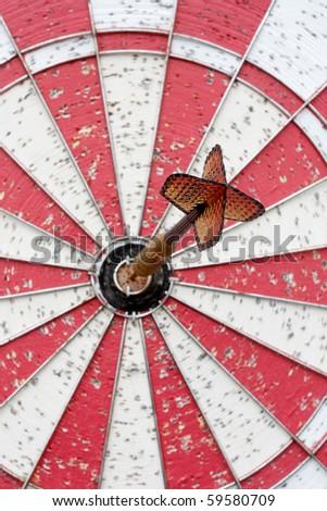Arrow on target - stock photo
