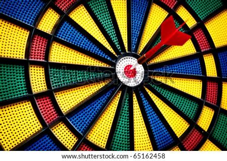 Arrow on the target - stock photo