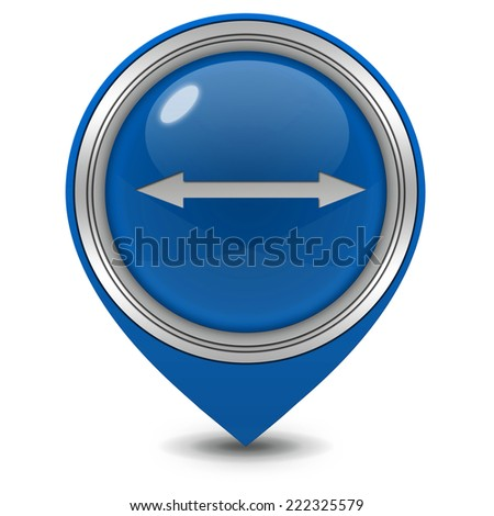 Arrow pointer icon on white background