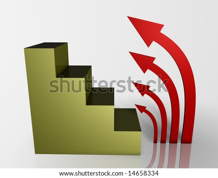 arrow's levels - stock photo