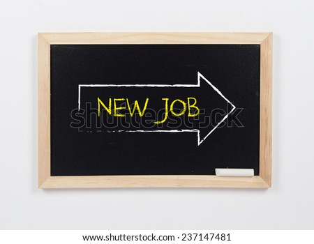 Arrow Showing New Job - stock photo