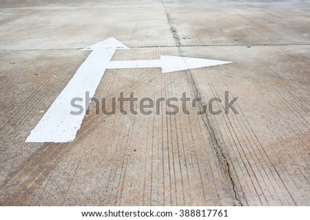 Arrow signs,Traffic sign on street .Color toned. - stock photo