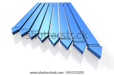 Arrow to close.,isolated, computer generated image, - stock photo