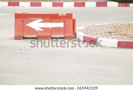 Arrow traffic symbol - stock photo