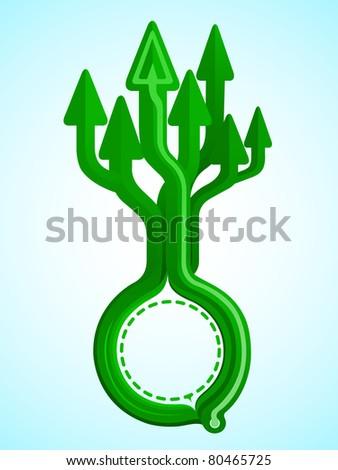 Arrow tree design growth to sky JPEG - stock photo