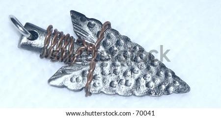 Arrowhead necklace - stock photo