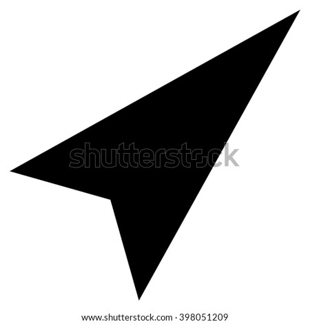 Arrowhead Right-Up raster icon. Style is flat icon symbol, black color, white background.