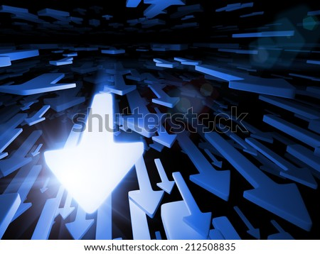 Arrows. - stock photo