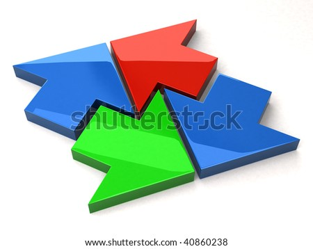 arrows - stock photo