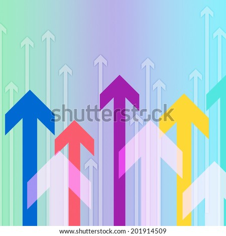 Arrows Background Showing Pointing Up Or Growth
