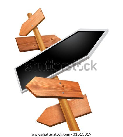 arrows direction sign - stock photo