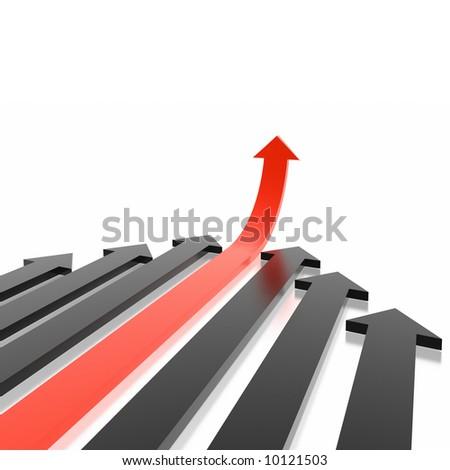 arrows (from 3D arrows set) - stock photo