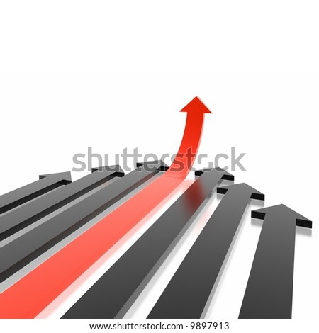 arrows (from 3D arrows set) - stock photo